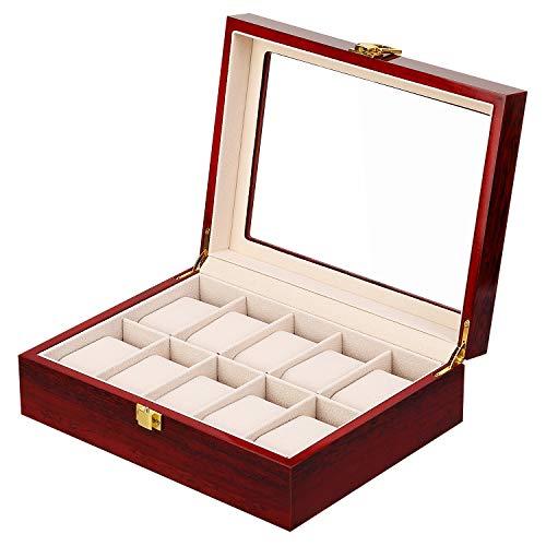 Caja para Relojes de Madera Estuche para Relojes y joyeros (10)