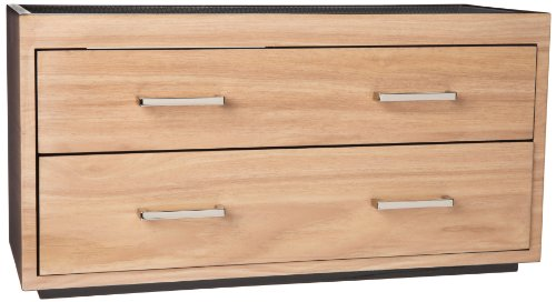 Wolf Designs 460328 Two Drawer Valet, Charging Station and Pen Box Watch Winder