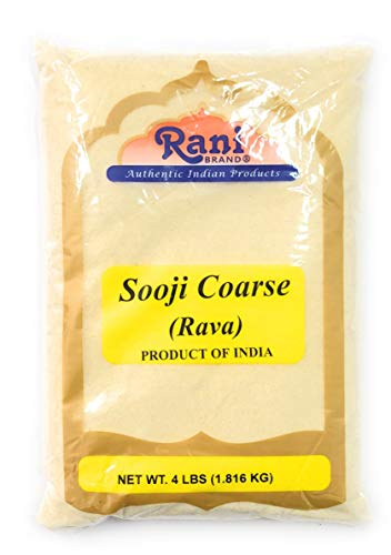 Rani Sooji (Farina, Suji, Rava, Rawa, Semolina) Flour, Coarse 4lbs (64oz) ~ All Natural | Vegan | NON-GMO | Indian Origin