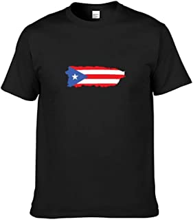 Puerto Rico Castle Flag Men's T-Shirt Graphic Printed Short Sleeve T-Shirt Summer