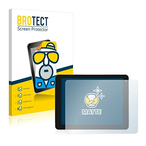 2X BROTECT Matt Bildschirmschutz Schutzfolie für Kiano Elegance 10.1 (matt - entspiegelt, Kratzfest, schmutzabweisend)