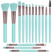 15-Piece Breteil Makeup Brushes Set (Neon Blue)