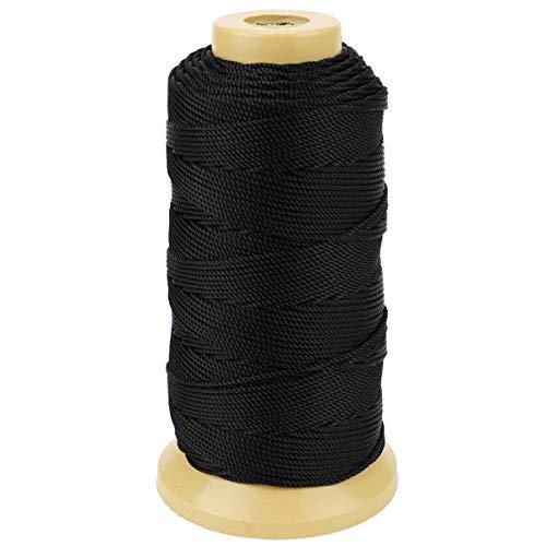 328 Feet Twisted Nylon Line Twine String Cord for Gardening Marking DIY Projects Crafting Masonry (Black, 1.5mm-328 feet)