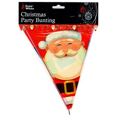 75c1a342387 12ft Christmas Party Bunting Santa Claus PVC Hanging Decorations