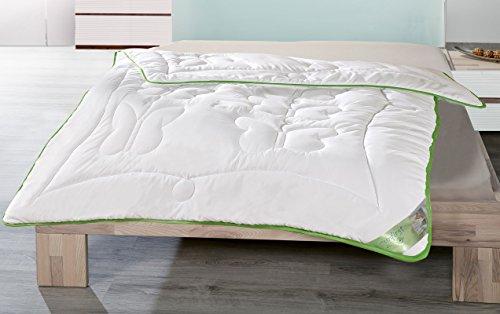 Moon Greenfirst SonderEDItion Schmetterlingsteppung Steppdecke Bettdecke mit Schutz vor Mücken/Milben leichte Ganzjahresdecke 135x200