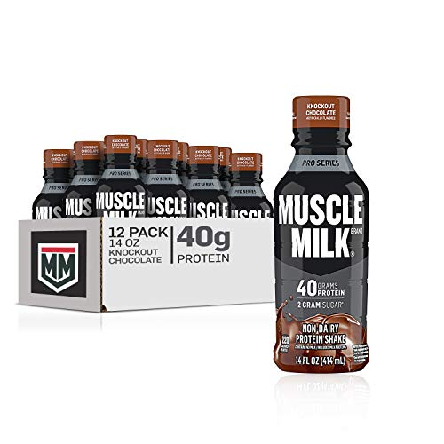 Muscle Milk Pro Series Protein Shake, Knockout Chocolate, 40g Protein, 14 Fl Oz, 12 Pack