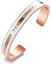 CDE バングル スワロフスキー元素クリスタルを採用 レディース ブレスレット 腕輪 18Kローズゴールド ピンクゴールド アクセサリー ジュエリー 調節可能 誕生日 プレゼント ギフトBOX付き