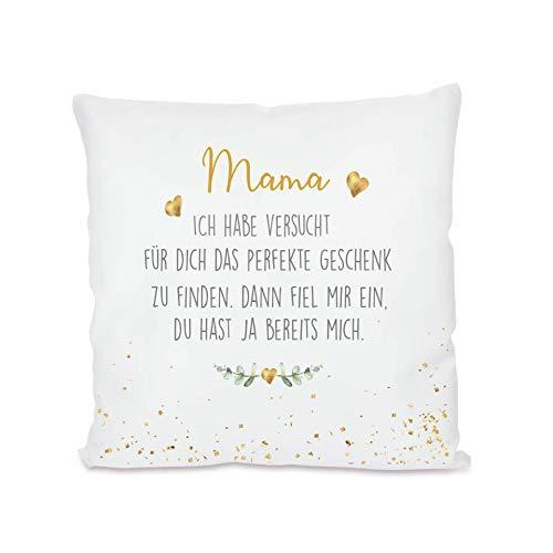 """Manufaktur Liebevoll I Kissen """"Mama, ich Habe versucht I Geschenk für die Mama, Mutter I Besondere Geschenkidee als Dankeschön, zum Geburtstag und zu Weihnachten I 40x40 cm"""