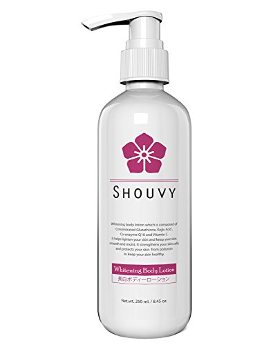 Shouvy White Body Lotion With Glutathione & Kojic Acid, Co-Enzyme Q10, Vitamin C - Keep Brightening & Nourishing Your Skin Smooth And Moist For All Skin Type, 8.45 Ounces