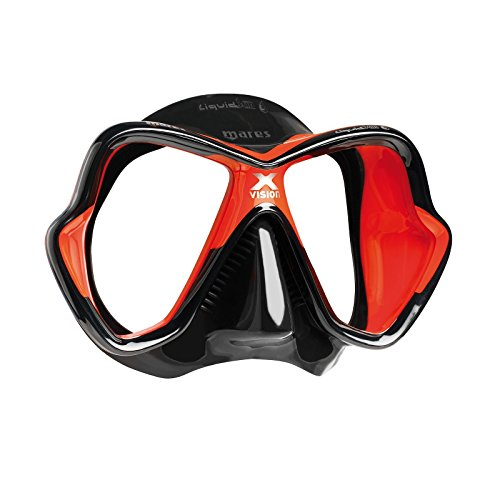 Mares X-Vision Ultra Liquid Skin Dive Mask, Black/Red