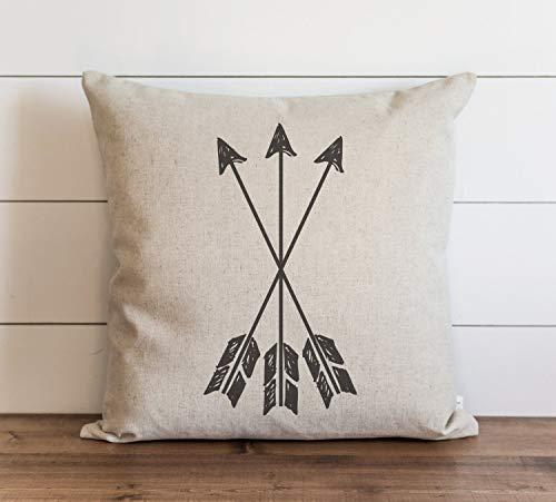 Funda de almohada con diseño de flechas, estilo tribal, para regalo, funda de cojín con cierre de cremallera oculto, para sofá, banco, cama, decoración del hogar, 60 x 60 cm