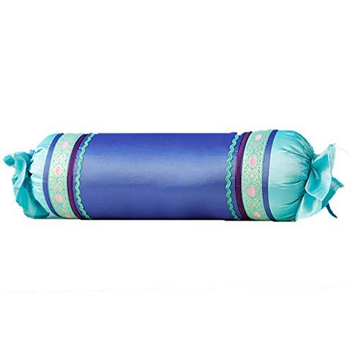 Lamp love Europäische Mediterrane Blaue Süßigkeiten Kissen Einfache Reine Farbe Blau Schönheitssalon Zervikalen Hals Concealer Kissen Yoga Kissen