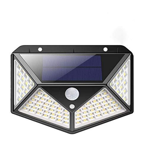 Ibello Lampe Solaire Extérieur Détecteur de Mouvement 100 LED 3 Modes 270° Grand Angle Éclairage Lampe Mural pour Jardin Cour