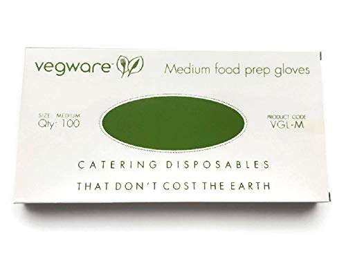 Disposable Food Prep Gloves – Compostable Latex-Free Gloves Made of Plant-Based PLA - Pack of 100; Large – Your Perfect Partner in Hygienic, Eco-Friendly, and Safe Food Preparation. Non-plastic