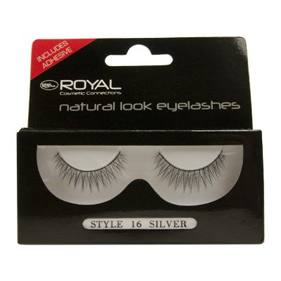 Royal Natural Look Eyelashes - 16 Silver