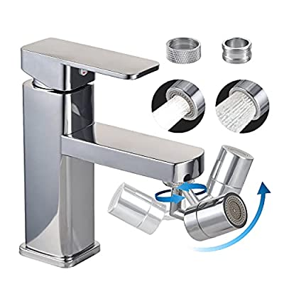 720°SwivelSinkFaucetAerator,BathroomSinkSprayAeratorAnti-SplashRotateFaucetandWaterSavingFaucetSprayerHeadAttachmentforKitchenBackyard