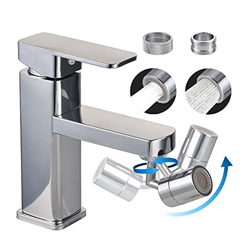 720° Swivel Sink Faucet Aerator, Bathroom Sink Spray Aerator Anti-Splash Rotate Faucet and Water Saving Faucet Sprayer Head Attachment for Kitchen Backyard