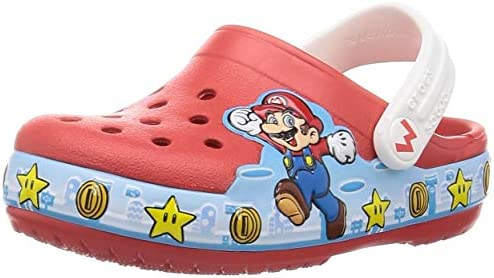 Crocs Kid s Fun Lab Spiderman Light Up Clog Light Up Shoes for Kids Flame 12 US Little Kid product image