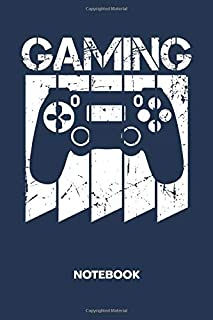 Gaming: NOTEBOOK Ruled Gaming Journal - Lined Retro Gamer Organizer Gaming Convention Planner - Girlfriend Gift Idea Boyfriend - Retro Gaming Diary 6x9 Inch Console Gaming Soft Cover 120 Pages