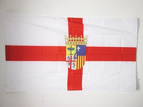 AZ FLAG Bandera de la Provincia DE Zaragoza 90x60cm para Palo - Bandera Zaragoza ENARAGÓN 60 x 90 cm