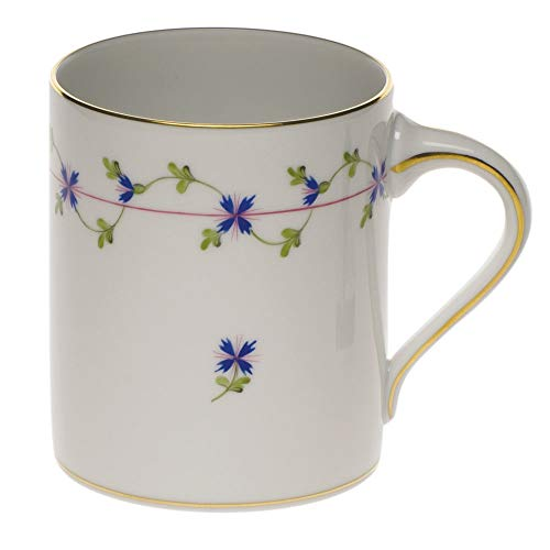 Herend Blue Garland Porcelain Coffee Mug
