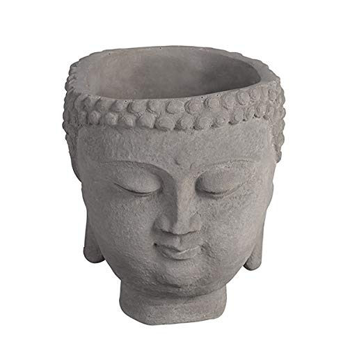 Grasslands Road 465755 Buddha Planter Medium, 6-inch Length, Cement