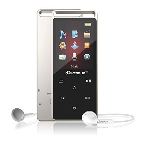 MP3 Player,8GB MP3 Player with Bluetooth 4.0, Lossless Sound Music Player Multifunction MP3 Player with FM Radio Voice Recorder Pedometer for Walking,Support up to 128GB BK05