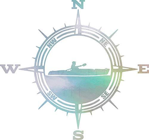 NBFU Decals Compass Kayak Adventure 1 (Hologram) (Set of 2) Premium Waterproof Vinyl Decal Stickers for Laptop Phone Accessory Helmet Car Window Bumper Mug Tuber Cup Door Wall Decoration