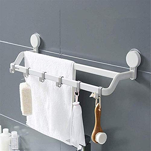 Suction Cup Hooks Bathroom Towel Rack Cool Hook Shelf Wall-Mounted Shelves Storage Rack for Kitchen Bathroom Living Room Bedroom (Size : 70Cm)