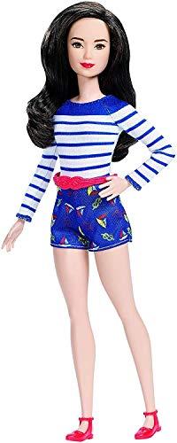 Barbie Mattel DYY91 - Fashionistas Puppe im Marine-Top