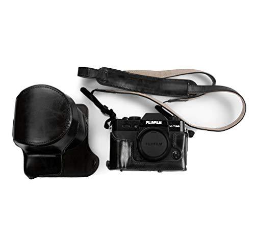 Kinokoo custodia per fotocamera in pelle PU per fotocamere Fujifilm x-t20, Fujifilm x-t10 e obiettivo 16 - 50 mm, 18 - 55 mm con la cinghia e panno di pulizia