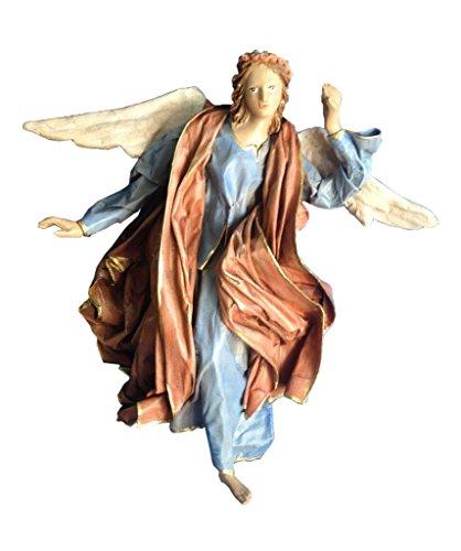 Bolognino Fernando Angelo per presepe, Soggetto in cartapesta leccese Realizzato artigianalmente, Dipinto Interamente a Mano