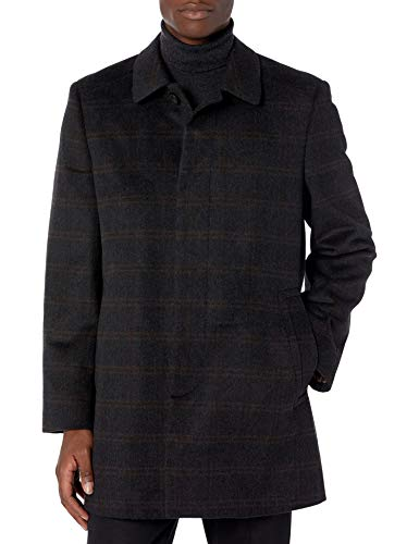 Hart Schaffner Marx Men's Wool Blend Coat, Grey, 40R