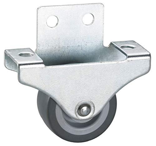 4 Stk. Parkett-Bockrolle 38x18 mm, TPE-Rad grau