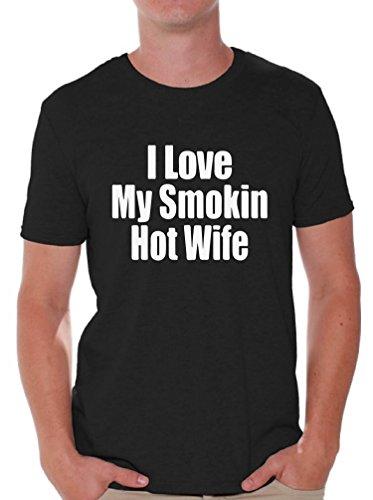 Awkwardstyles I Love My Smoking Hot Wife T-Shirt Couple Shirt M Black