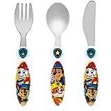 Paw Patrol Children's Kids 3pcs Cutlery Set, Knife/Fork/Spoon