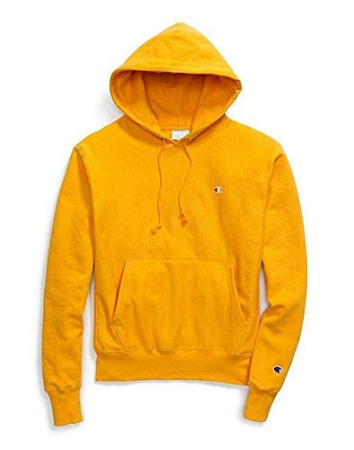 Champion LIFE Men's Reverse Weave Pullover Hoodie, C Gold/Left Chest C Logo, Medium
