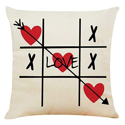 Dasongff Funda de cojín con texto 'Love' impreso con cartas, idea de regalo / favorito / pareja funda de cojín para el sofá del coche