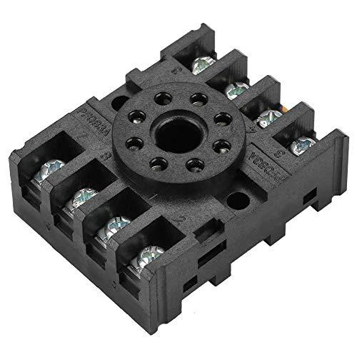 PF083A Relay Socket, 8 Pins Screw Terminal Power Relay Base Holder Socket Rail Mounted Relay Socket Terminal for MK2P AH3 Time Relay