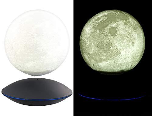 Infactory Flotante Luna lámpara: Lámpara Decorativa Flotante con Luna iluminada y Base magnética (Bala)