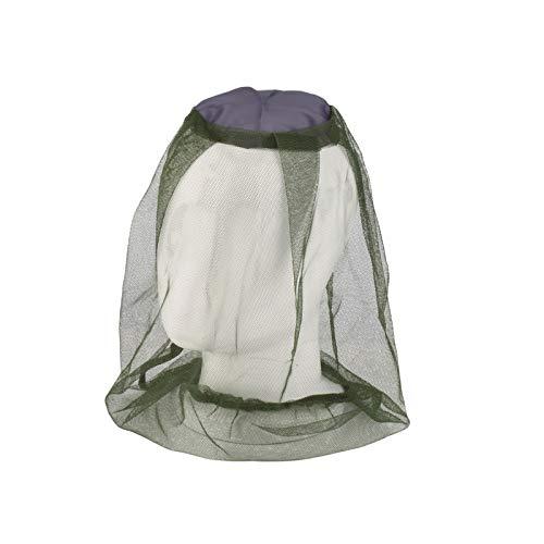 EASONGEE 5 unidades de red para la cabeza de insectos, suministro de nailon duradero plegable, conveniente malla protectora portátil de mosquiteros y otras moscas (verde)