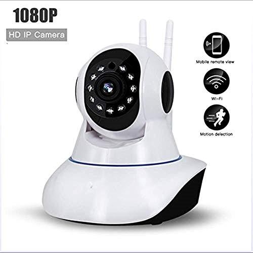 Camaras de vigilancia wifi Cámara de vigilancia HD inalámbrica en interiores y exteriores 1080P de doble uso con micrófono compatible con pase de voz bidireccional / visión nocturna ultra clara Camara