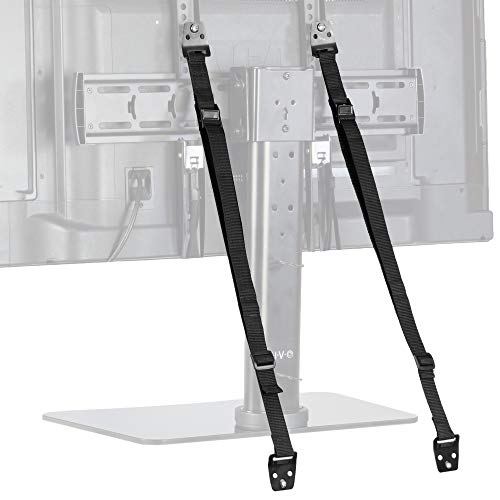 TV Anti-Tip Heavy Duty Dual Cable | Non Tipping Safety Strap Kit for Flat Screen and Furniture Mounting (STAND-SK02)