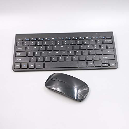LXH-SH Keyboard Spielen 2.4G Wireless Tastatur und Maus Multimedia Notebook Mini-Tastatur Gaming-Maus Computer-Notebook Mouse (Colore : Black)