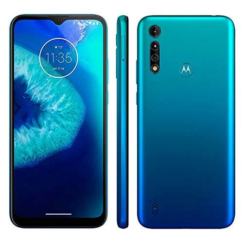 Smartphone Motorola Moto G8 Power Lite Aqua, Tela de 6.5', 64 GB, 4G e Câmera Tripla de 16MP + 2MP + 2MP - XT2055-2