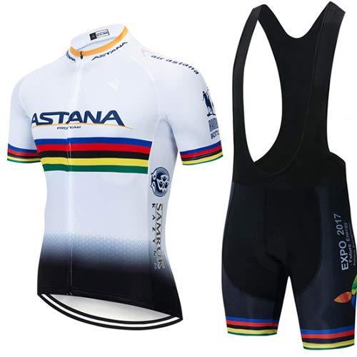 Hplights Conjunto Ropa Ciclismo Equipacion Traje Hombre para Verano, Maillot Ciclismo Hombre+Culotte Ciclismo Culote Bicicleta,B,XXXXL