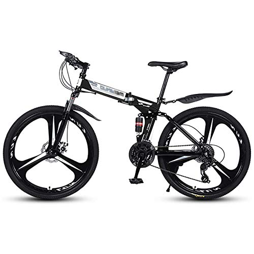 TRGCJGH Bicicleta Plegable De 26 Pulgadas con Doble Amortiguación Bicicleta De Montaña Bicicleta De Carreras De Velocidad Cross-Country Aluminio Plegable Fácil con Un Clic,C