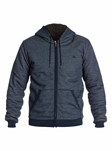 Quiksilver Major Sherpa Sweat-Shirt à Capuche Homme, Bleu (Navy Blazer), XX-Large (Taille Fabricant: XXL)