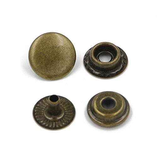 AngelakerryAmazon - Juego de corchetes para costura (10 unidades), cobre, 15 mm