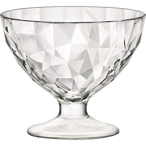 Bormioli Rocco 1333436-6 Cuencos Diamond de Cristal, 36 cl, Transparentes, 6 Unidades